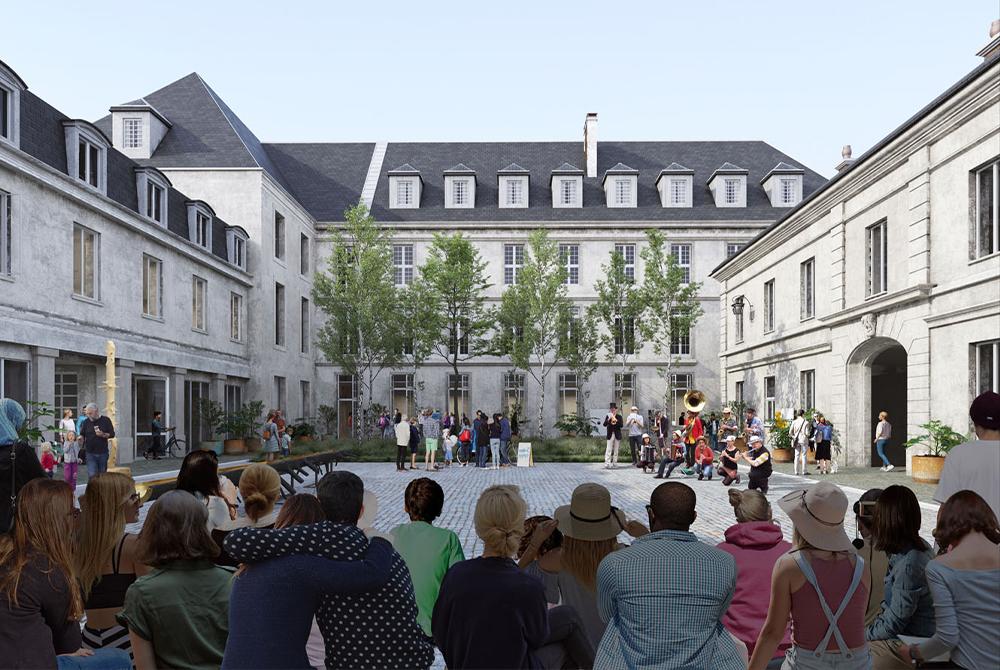 Conçu comme la future porte d'entrée de l'écoquartier Saint-Vincent-de-Paul dans le 14e arrondissement de la capitale, « La Collective » se présente comme un centre d'art contemporain solidaire s'étendant sur 4 000 m2 et destiné à accueillir l'art sous toutes ses formes.